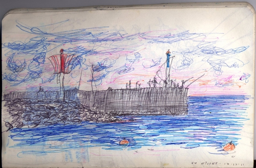 Port de Saint Gilles, réunion, soleil couchant sans aileron
