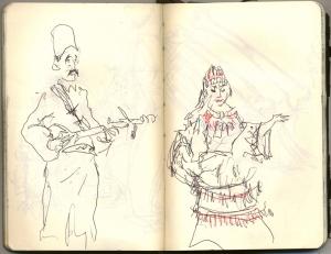 musicien et danseuse de FATIMA TABAAMRANT aux Halles de Scharbeeck