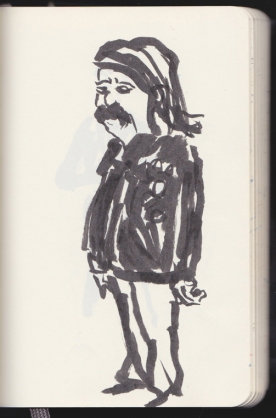 le dernier rocker attendant un tram en retard