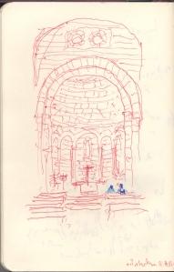 en la chapelle de la Canonica de Santa María de Vilabertran
